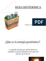 La Energia Geotermica