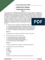 HABILIDAD VERBAL Comprension de Lectura (Exam Adm 2008-II UNMSM-130 Ejerc+Solucion)