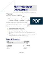 Parent Provider Agreement