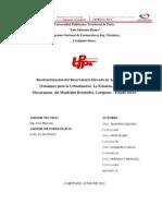 Reestructuración del Reservatorio Elevado de Aguas Blancas