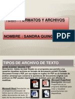 Formatos de Archivos Sandri