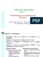 Tema 01. Introduccion a La Ingenieria Del Software (Transparencias)