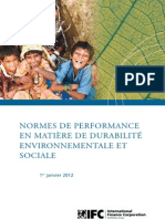 IFC Performance Standards on Environmental and Social Sustainability (French)