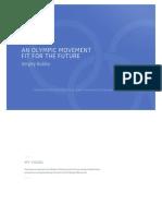IOC presidency, election manifesto, Sergey Bubka (Ukraine)