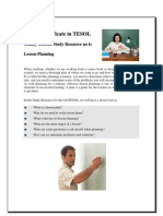 Lesson Planning CertTESOL