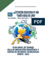 Plan Anual de Trabajo Del Aip Ie 048 Tumbes 2013