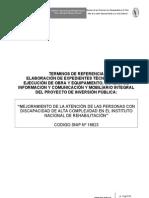 Inr.tdr Elaboracion Del Expediente Tecnico