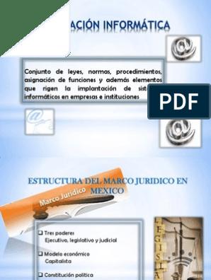 5 1 Estructura Del Marco Jurídico En México
