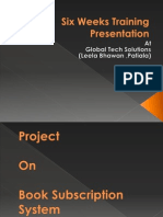 Six Week Industrial Training Presentation