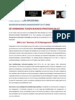 FACTSHEET HBO-OPLEIDING:   BACHELOR BUSINESS MANAGEMENT & ICT (BMI)