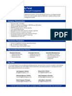 KH Growth Equity Fund - 2 Pager
