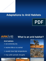 11-14yrs - Adaptations to Arid Habitats - Classroom Presentation - science