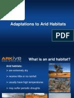 11-14yrs - Adaptations to Arid Habitats - Classroom Presentation - science