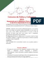 Concurso de Haikus y Caligramas 2013