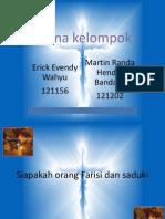 Siapakah Orang Farisi Dan Saduki