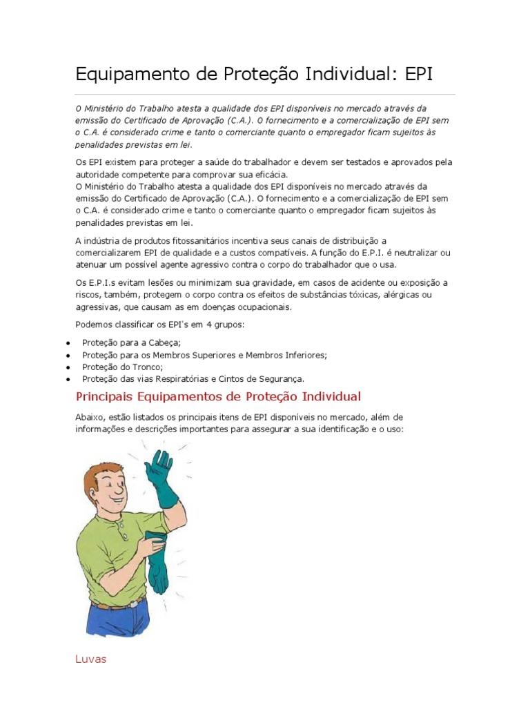 Equipamento de Proteção Individual ac1dc86317