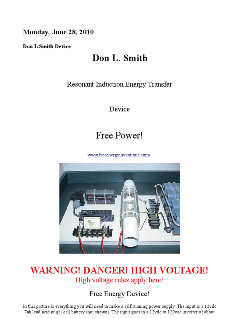 2kW Free Energy Device - Don Smith | Inductor | Series And Parallel