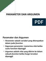 Parameter Dan Argumen
