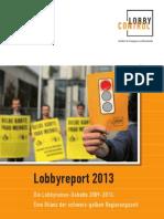 Lobby Report 2013
