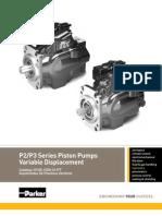 P2 P3 Series Piston Pumps Variable Displacement HY28 1559 01 PT