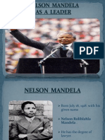 Leadership of Nelson mandela