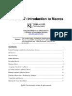 Excel 07 Macros