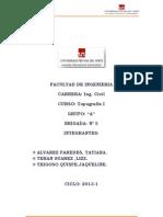 Informe de Secciones Transversales