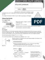 Section e Solids Gases Liquids Revision Guide