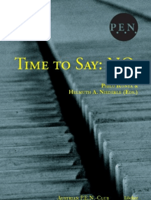 Time To Say No Book 2013