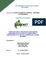 PONTIFICIA UNIVERSIDAD CATÓLICA DEL ECUADOR SEDE IBARRA BIOGOURMET PROYECTO FINAL