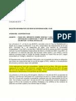 Boletín Informativo HACIENDA - IVU uy otros