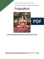 Prabodhini a Brief Life-Sketch of Swami Sharnanandji