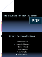 Mental Math Secrets Presentation 13-07-03