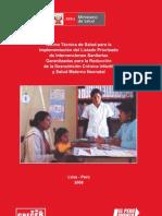 NORMA TECNICA DE SALUD PARA LA IMPLEMENTACION DEL LISTADO PRIORIZADO DE INTERVENCIONES SANITARIAS GARANTIZADAS PARA LA REDUCCIÓN DE LA DESNUTRICION CRÓNICA INFANTI Y SALUD MATERNO NEONATAL