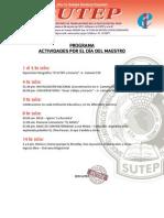 Programa - Actividades por el día del Maestro 2013