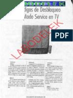 90 Codigos de Desbloqueos de Tv