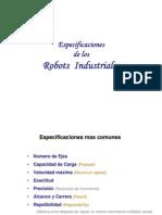 Especificaciones de Los Robots Industriales