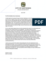 Hawthorne police chief's letter to the community concerning the dog shooting