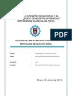 Perfil Del Docente en La Educacion Inicial