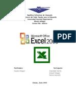 Informe Microsoft Excel 2003