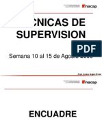 Técnicas de Supervisión Semana 02 al 07 de Agosto 2010