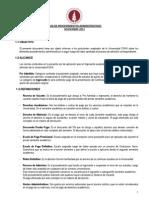 GUIA de Procedimientos Administrativos Nov 2012_Admisión 2013-1