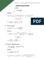 Ejercicios Resueltos de Limites de Funciones 2c2ba Bach Ciencias