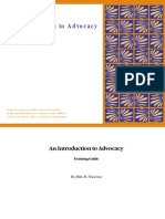 An Introduction to Advocacy - Training Guide (Full Document)