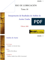 10. Interpretación de Análisis de aceites