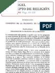 74787010 Hegel G W F El Concepto de Religion
