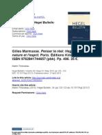 Marmasse, G.(Penserleréel;Hegel,la nature et l'esprit)