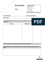 Part B Application Form
