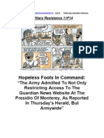Military Resistance 11F14 Fools in Command