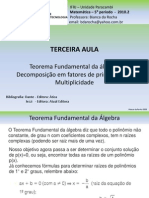 Terceira Aula- Teo.fund.Algebra, Multiplicidade